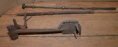 Antique cast iron victorian rug stretcher collectible carpet puller tools