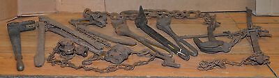 9 antique fence stretchers collectible barbed wire farm ranch tool primitive lot