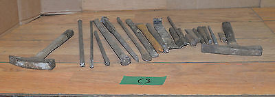 20 vintage stone workers tools chisels hammer wall building marble granite lot 3
