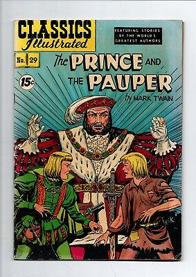 Classics Illustrated #29, 1952 (The Prince and The Pauper)52 pages Gilberton USA