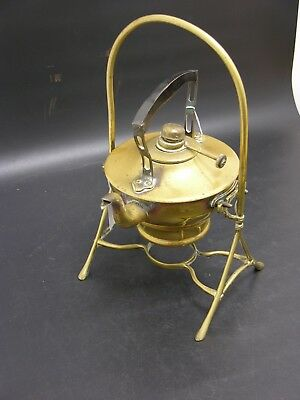 Antique Brass Spirit Kettle on Stand (SL127)