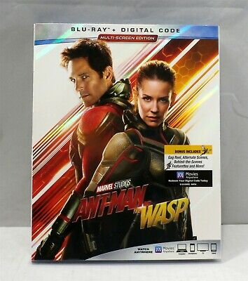 Ant-Man and the Wasp (Blu-ray, Digital, October 16, 2018) Rated PG 13