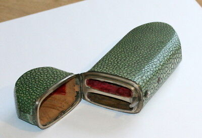 Rare Double Shagreen Spectacles Case Etui, Silver Mounts, C1840 ,p.41 In My Book