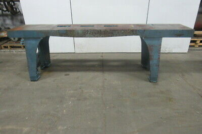 "Vintage Cast Iron Webbed Top Machine Base Work Table Bench 121-3/4x21-5/8x37""H"
