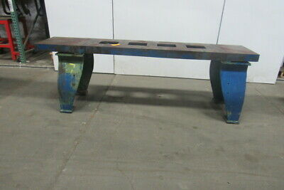 "Vintage Cast Iron Webbed Top Machine Base Work Table Bench 102x20-5/8x33-3/4""H"
