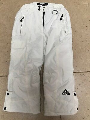Pair Of Childs White Salopettes Age 5-6