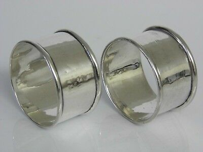 A Pair of Antique Solid Sterling Silver Napkin Rings