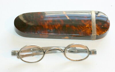 Silver Spectacles Dated 1828 With Orig. Spectacles Case Etui, In Excellent Cond.