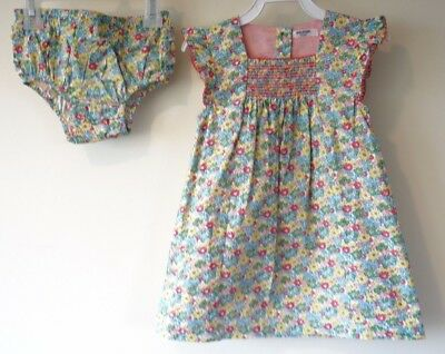 f7ab20b3d165 New Baby Boden Floral Dress With Matching Diaper Cover Girl s Size 6-12  Month