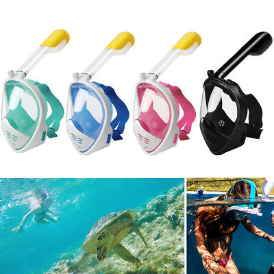 Kid Adult Full Face Anti-Fog Mask Surface Goggles Diving Snorkel Scuba for GoPro