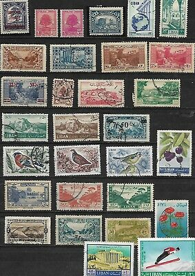 Lebanon 30 Different Stamps Used