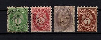 Bp90748/ Norvege Norway / Sg # 33 – 39 – 42 – 45 Obl / Used 270 €