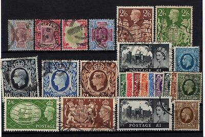 Bp90986/ Great Britain / Lot 1887 – 1959 Oblitere / Used 523 €