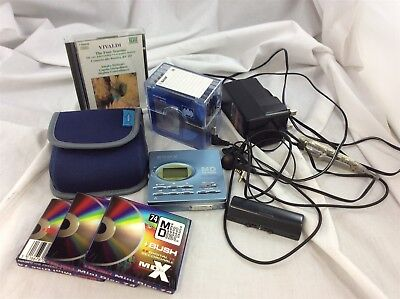 Sony MZ-R91 Personal Minidisc Player & Recorder Bundle w Discs - Headphones ++