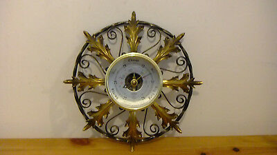 Vintage Shortland Smiths Sb Barometer With Thermometer Cast Metal Casing