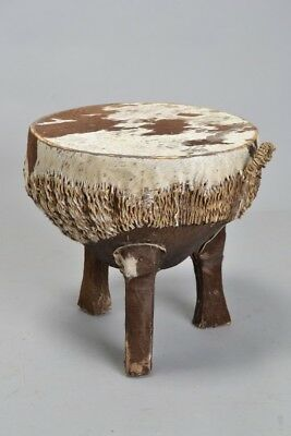 Mid C20th African Hide Covered Tribal / Ethnic Drum. Ref KRR