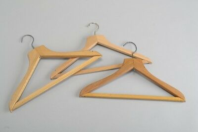 Savoy, Basil Street & Browns. London Hotels Mid C20th Wooden Coat Hangers. LKXJ