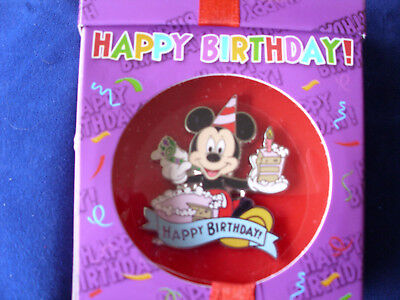 Disney * MICKEY - HAPPY BIRTHDAY * New in Box Character Trading Pin