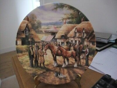 Wedgwood Collectors Plate By Chris Howells Entitled The Horse Fair