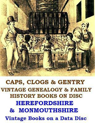 Hereford Monmouth Local History Genealogy Collection Vintage Books on Data Disc