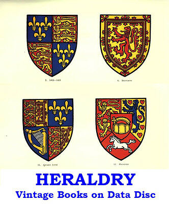 Heraldry Armorial Coats of Arms Historic Collection Vintage Books on Data Disc