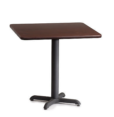 """Commercial Restaurant Laminated Double Sided Table 30x30 42"""" Bar Cast Iron Base"""