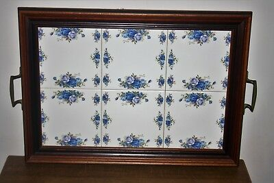 "Very Rare Royal Albert ""Moonlight Rose"" 6 Tiled Large Twin Handled Serving Tray"