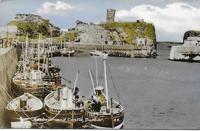Dunbar.Harbour & Castle-1961 Used RPPC (Pub:M.& L. National Series) - VGC !