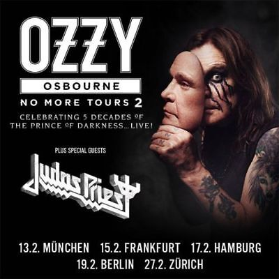 2 x Ozzy Osbourne Tickets - No more Tours 2 - 19.02.2019 - Oberrang - Berlin