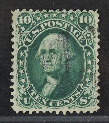 CKStamps: US Stamps Collection Scott#62B 10c Washington Used Reperf CV$1600