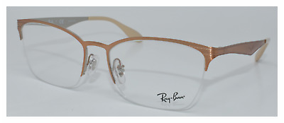 9f207ee1389 New 100% Authentic Ray Ban Eyeglasses Rb6345 2920 Brushed Brown Silver  52-17-
