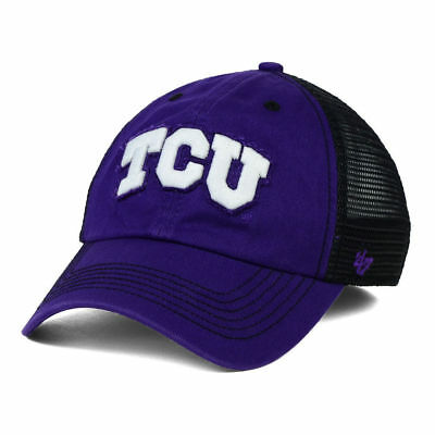 low priced 36205 e0998 TCU Horned Frogs NCAA Taylor Closer Cap Hat Mesh Texas Christian University  L XL
