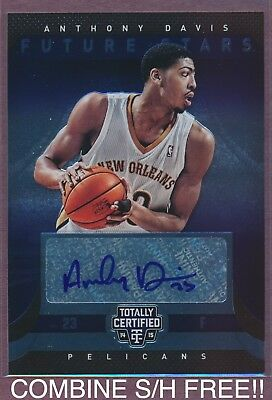 2014 15 Panini Totally Certified Anthony Davis Autograph 99