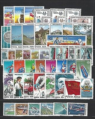 ROMANIA SC#3431/C277,  1987 Year Set of 51 Stamps & 4 Souv. Sheets  Mint NH w/OG