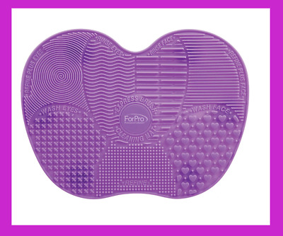 US~ SILICONE MAKEUP FACIAL BRUSH CLEANING MAT Washing Pad Board Scrubber Big 9x6