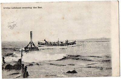 Irvine Lifeboat crossing the Bar. Ayrshire