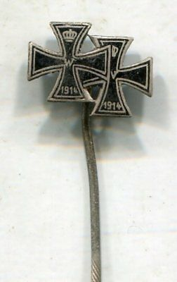 Wwi Imperial German Iron Cross 1St & 2Nd Class Medal Stickpin-Original