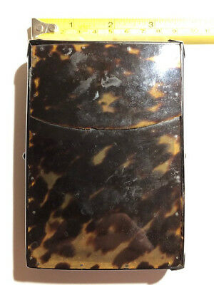 Faux Tortoise Shell Card Case, Age Unknown. Good Condition