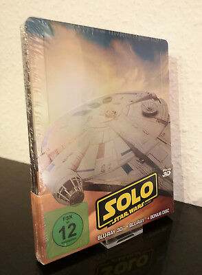 Solo: A Star Wars Story 3D Steelbook - Blu-ray+Bonus Disc (Limited Edition) NEU