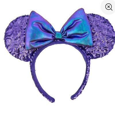 Purple Potion Minnie Mouse Bow Ears Headband Disney Parks Hat