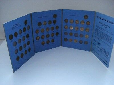 Canada Canadian Small Cents Lot Of 55 Small One Cent / .01 Cent With Book