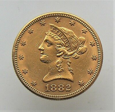 1882 $10 Dollar Liberty Gold Eagle Coin