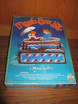 Vintage Craft Master Row Boat Music Box Kit, Plays Moon River, 1984 50990, NIB