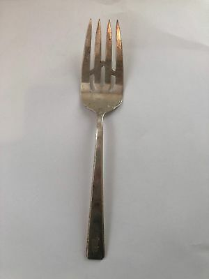 "Towle Sterling Silver OLD LACE COLD MEAT FORK 8""  Monogrammed antique vintage"