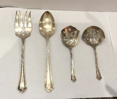 Manchester Mary Warren sterling silver 1910 antique serving pieces rare vintage