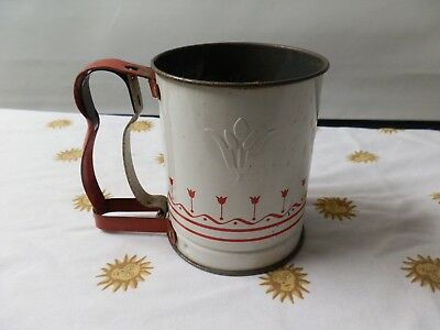 Androck Hand-i-shft. Jr. Red & White, tulips, Made in USA Vintage Good Condition