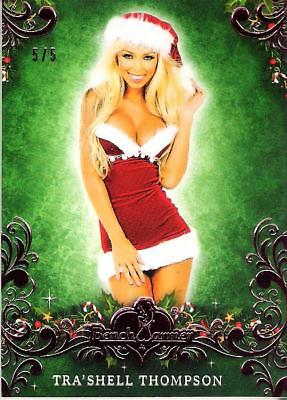 2014 Benchwarmer Happy Holidays Pink Premium Trading Card Tra'Shell Thompson