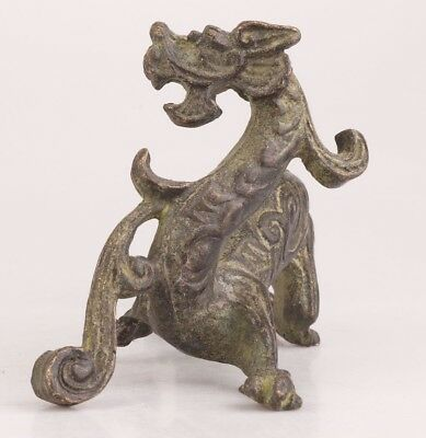 Sacred Chinese Bronze Statue Complete Dragon Mascot Decoration Gift