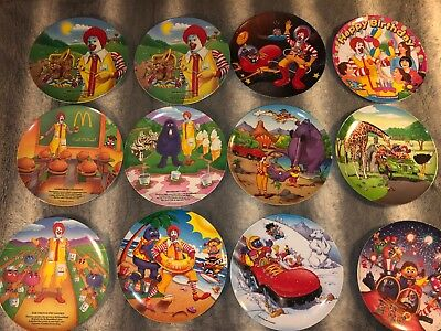 Lot Of 12 Vintage Ronald Mcdonald Plastic Kids Plates Collector