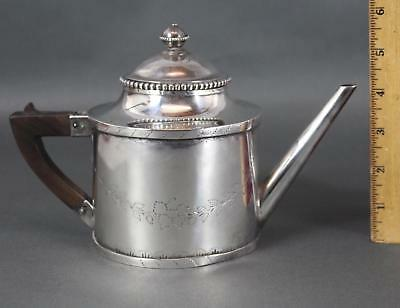 Small Antique Very Early 19thC Hallmarked 1805 Handmade Coin Silver Teapot